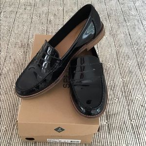 Sperry patent leather loafers
